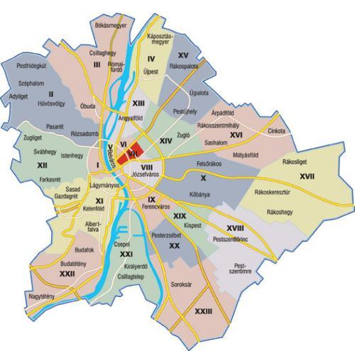 I distretti di Budapest